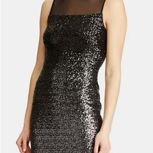 Lauren Ralph Lauren Dresses - Lauren Ralph Lauren Sequined Sleeveless Midi Dress